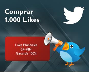 1.000 Likes de Twitter
