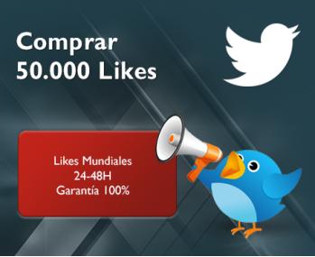 50.000 Likes de Twitter