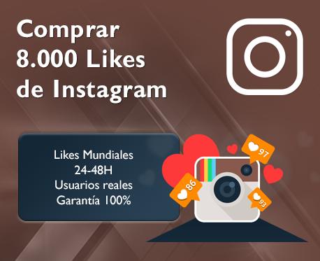 8.000 Likes de Instagram