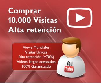 10.000 Visitas Youtube alta calidad