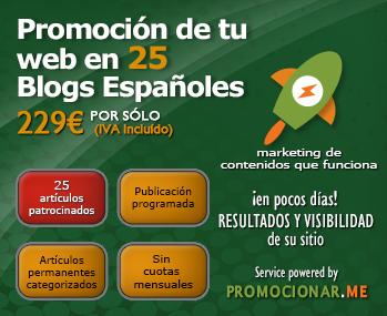 Promoción de tu web en 25 blogs