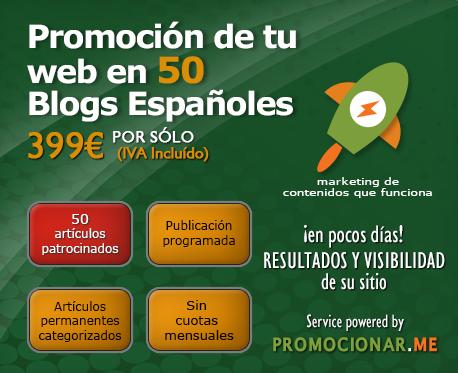 Promoción de tu web en 50 blogs