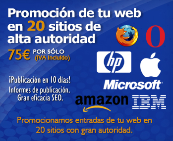 Promoción de tu web en 20 sitios de alta autoridad