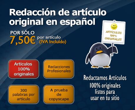 Redacción de artículo original en español